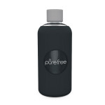 Pure Free Glass Water Bottle Black