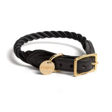 Black-Rope-Dog-Collar