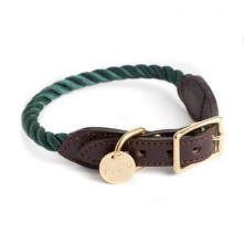 Hunter-Green-Rope-Dog-Collar