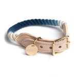 Indigo-Fade-Dog-Collar