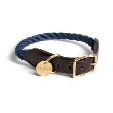 Navy-Rope-Dog-Collar