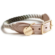 Olive-Fade-Rope-Dog-Collar