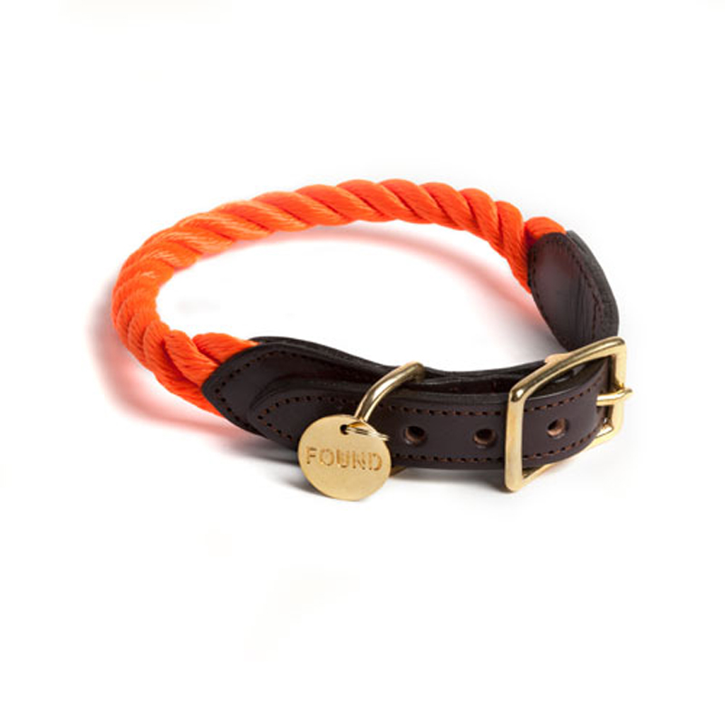Found-My-Animal-Orange-Rope-Dog-Collar