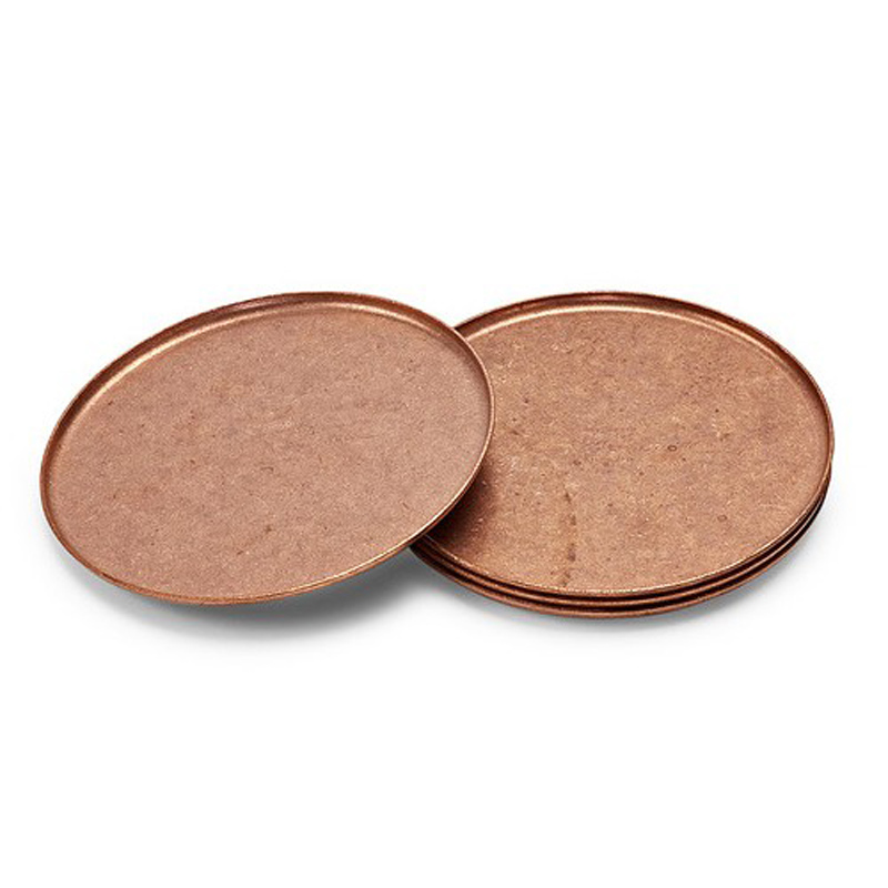 Set Of Copper Coasters Beans And Jazz
