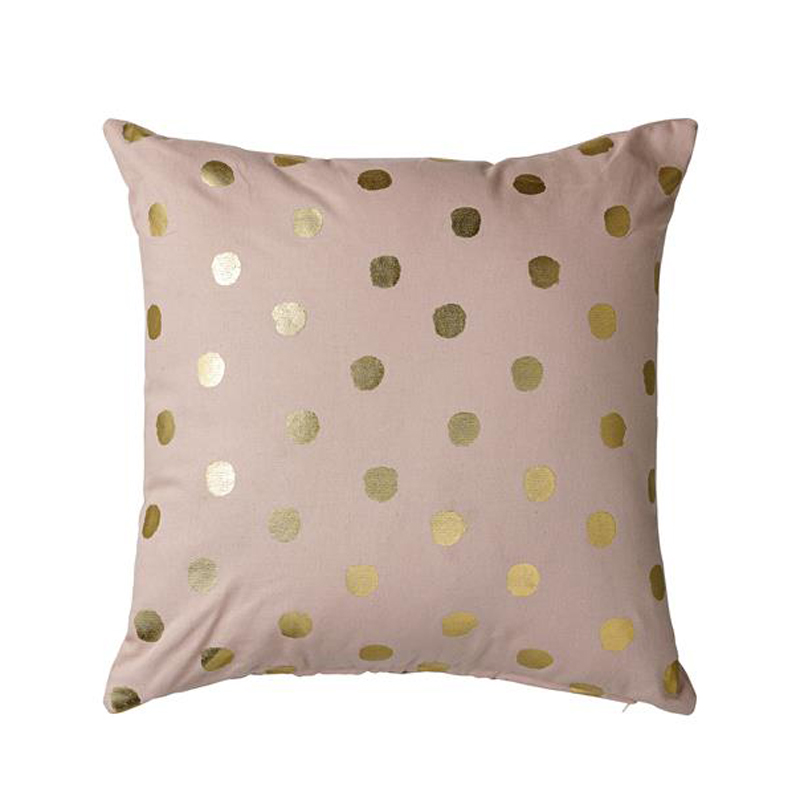 Dusty Pink Cushion With Gold Spots Beans And Jazz