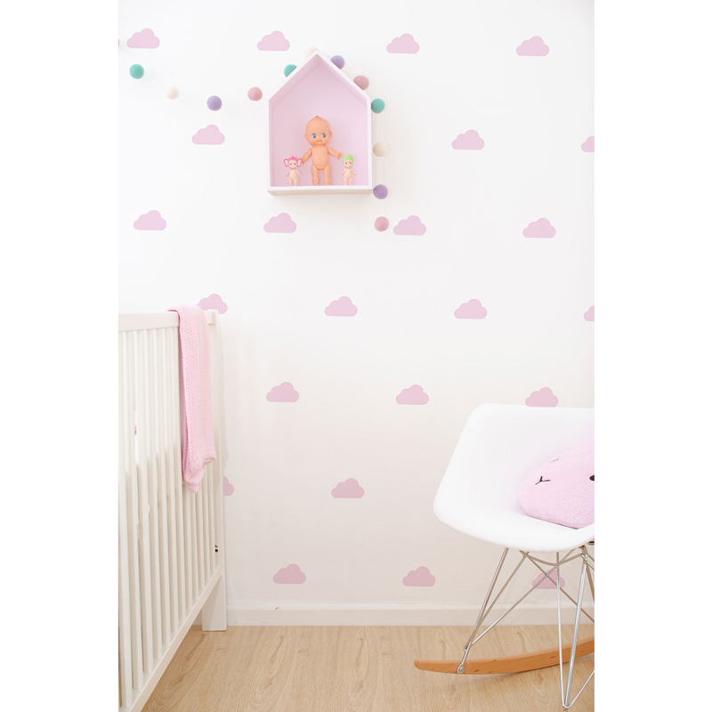 Wall-Vinyls-Pink-Clouds