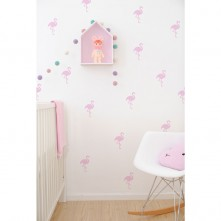 Wall-Vinyls-Pink-Flamingoes
