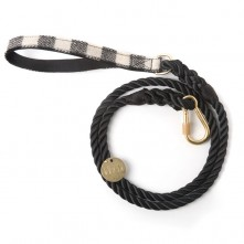 Black-And-White-Plaid-Dog-Leash