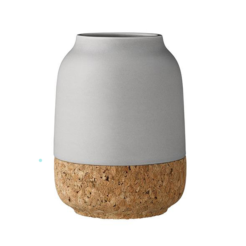 Grey-Vase-With-Cork-Bottom