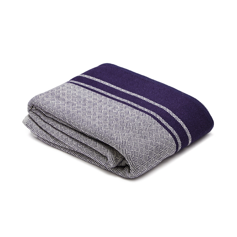 Mungo-Quill-Cotton-Throw-Blue