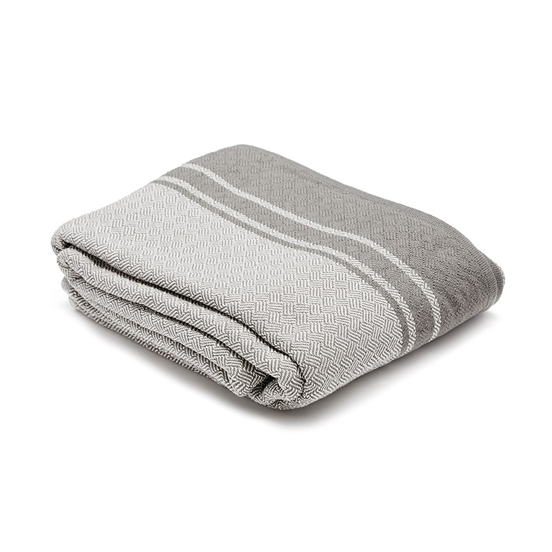 Mungo-Quill-Cotton-Throw-Grey