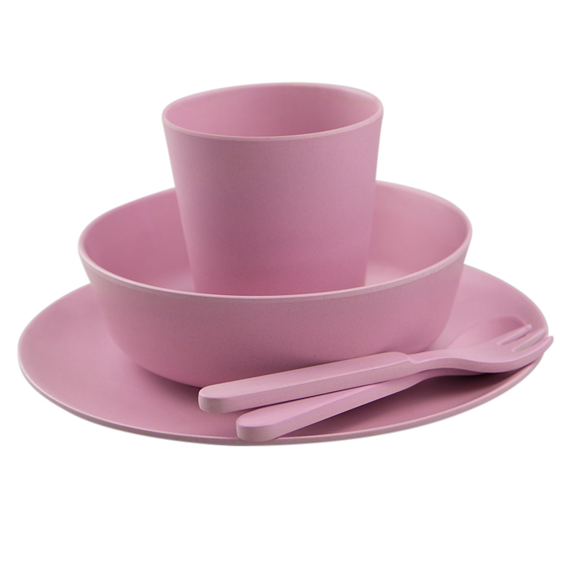 Pink-Kids-Bamboo-Dinner-Set-1