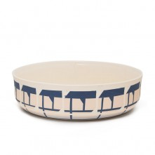 Andrew-Molleur-Ceramic-Nesting-Bowl-Large-Pink-Navy