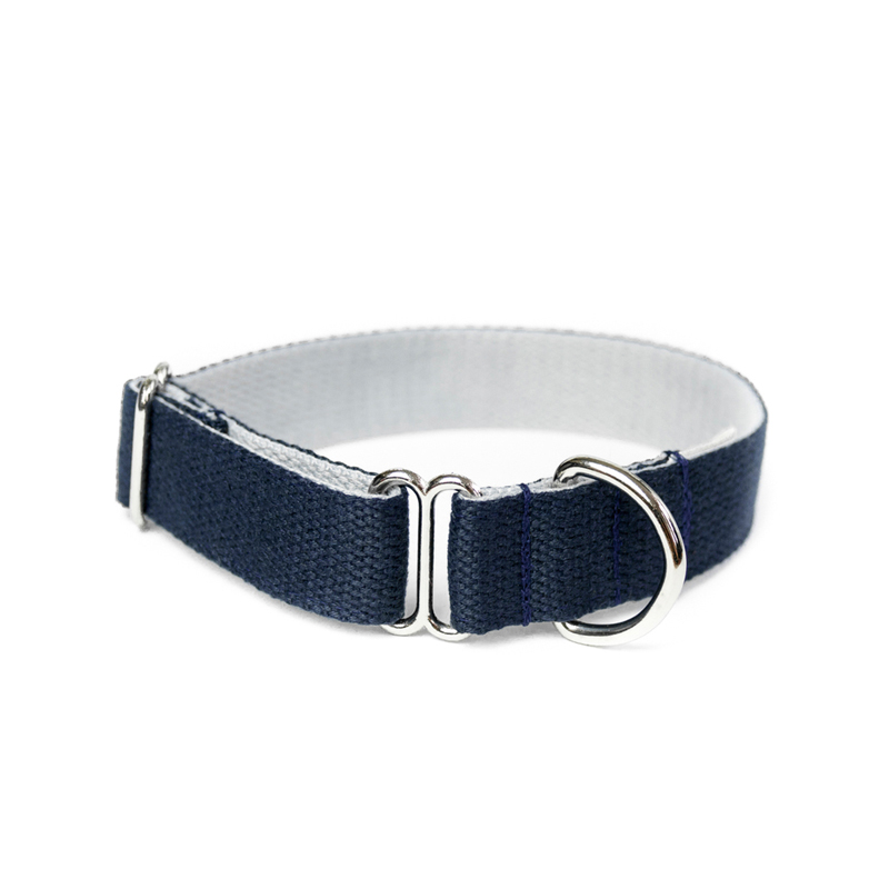 two-tone-cotton-dog-collar-navy-grey