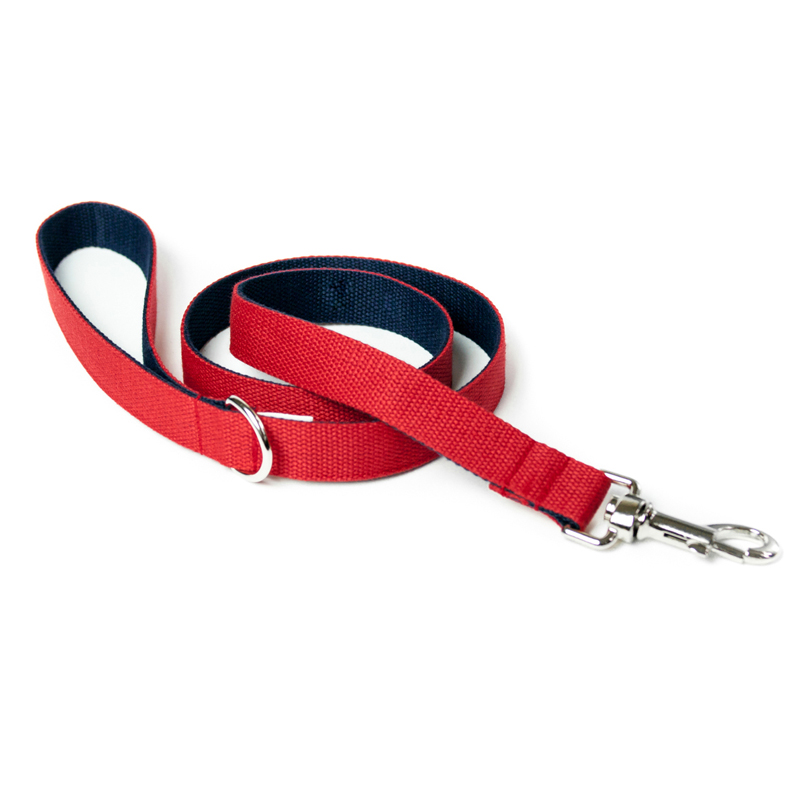 two-tone-cotton-dog-lead-red-navy