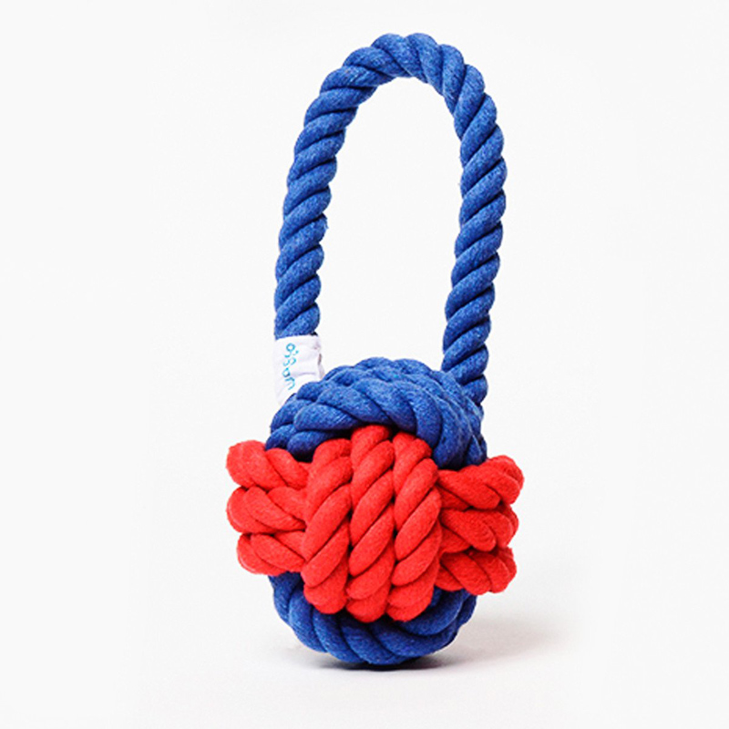Have A Ball Rope Dog Toy Red Amp Blue