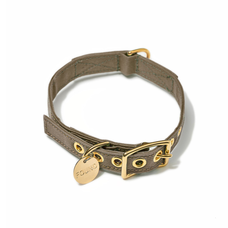 Found-My-Animal-Brown-Cotton-Canvas-Dog-Collar