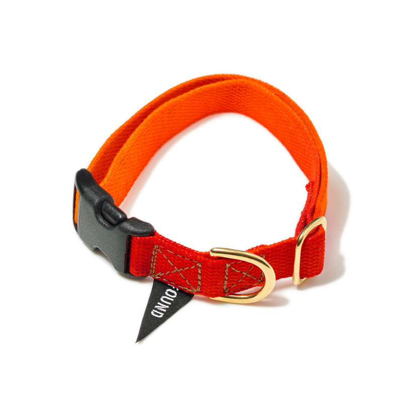 Found-My-Animal-Orange-Magenta-Cotton-Dog-Collar