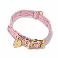 Found My Animal Pink Cotton Canvas Dog Collar